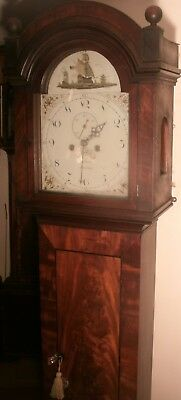 Antique Mahogany Eight Day  Nautical  Dial Longcase / Grandfather Clock