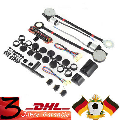 Universal 2 Door Power Window Kit Electric Roll Up Conversion w/2 Swithches Car