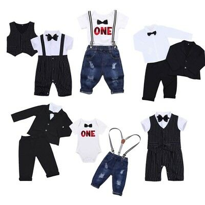 Baby Boys Gentleman Formal Suit Outfits Party Wedding Pageant Birthday Casual