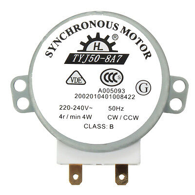 CW/CCW Microwave Turntable Turn Table Synchronous Motor TYJ50-8A7D Shaft ^F