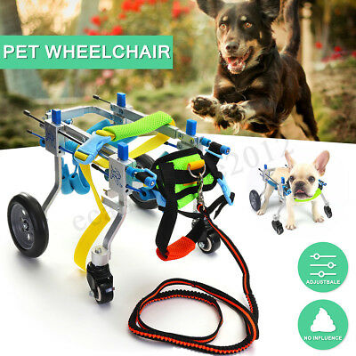 Aluminium Pet Dog Wheelchair Cart For Handicapped Hind Legs Walk With 4 Wheels