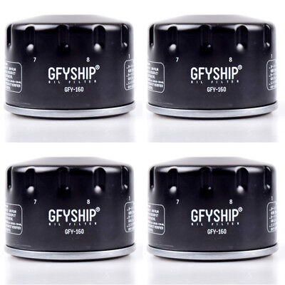 4pc Motorcycle Oil Filter For BMW S1000RR S1000R S1000XR HP4 R1200GS 13-18 HF160