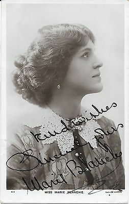 Marie Blanche  ~ Hand Signed Autographed Postcard ~ Theatre Performer