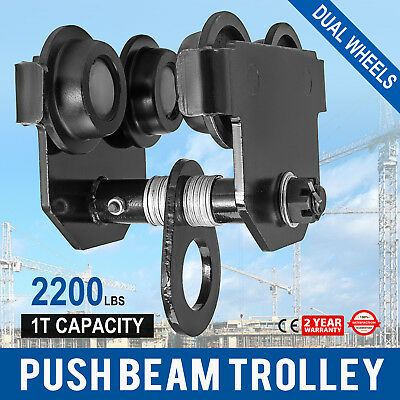 1 Ton Push Beam Track Roller Trolley Adjustable Washers Included Handling Tool