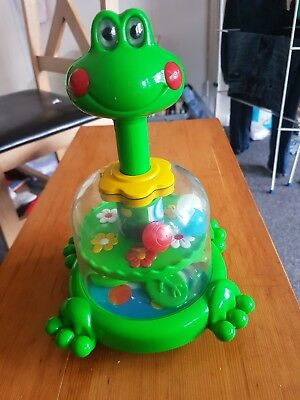 Push Amd Spin Frog Baby Toys