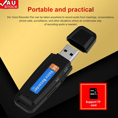 Ultra-thin Digital Voice Recorder Voice Activated USB Pen For Phone PC Practical