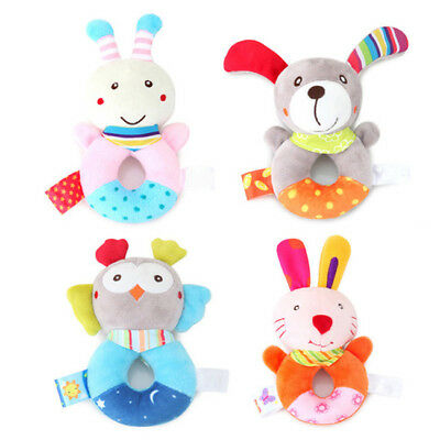Baby Toys Infant Soft Plush Hand Rattle Developmental Educational Toys B