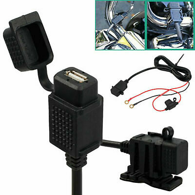 12V USB Power Supply Port Motorbike GPS Mobile Charger Socket UK Seller