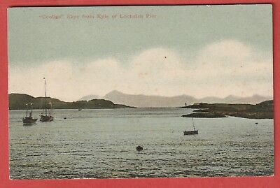 Vintage Postcard - Coolins , Skye from Kyle of Lochalsh Pier