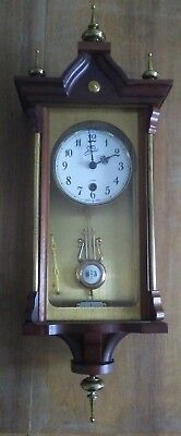 Brass & Wood R & A Chiming Wall Clock, Spares or Repair