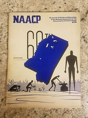 Rare 1969 NAACP 60th Convention Loaded with 72 pages Jackson MS Black History