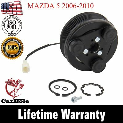 AC Compressor Clutch KIT -Front Plate Bearing For 2004-2008 Mazda 3 5 2.0L 2.3L