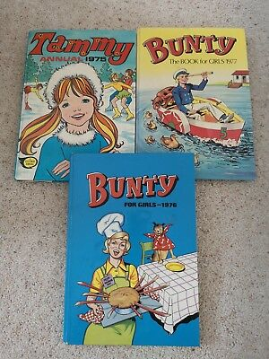 Vintage Bunty Tammy  annual Books Lot 1975 1976;1977