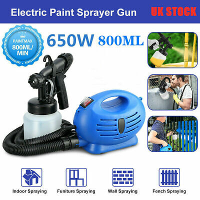 Electric Paint Sprayer Spray Gun Lacquer Fence Garden Wall Stain 650W 800ml UK