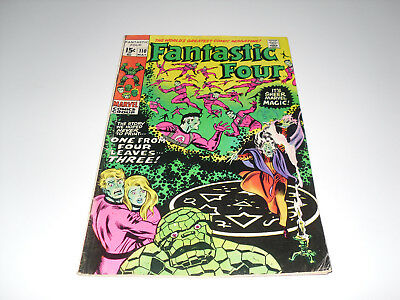 Fantastic Four 110 : G+ : Initial Version With Green Thing, Blue Faces +