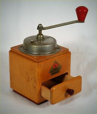 Vintage Pe De Dienes Mokka Wooden Coffee Bean Grinder German