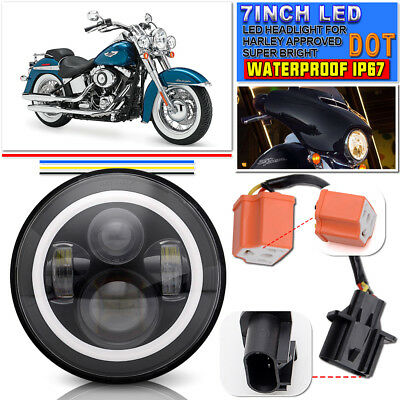 Fit HARLEY DAVIDSON Daymaker Angel Eye with Halo LED CONVERSION HEADLIGHT