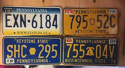 Pa license plate lot of 4