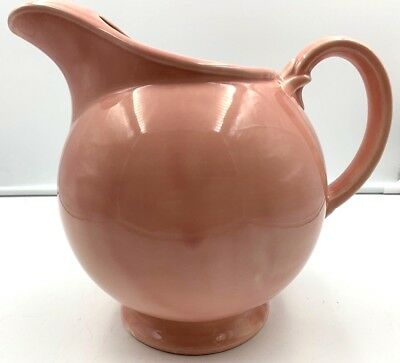 LuRay Lu Ray Pastels TST Pink Footed Ball Ice Lip Pitcher Vintage 76 ounces