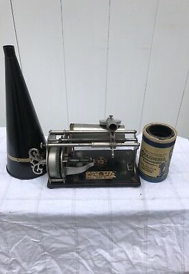 Busy-Bee Type Q Graphophone Cylinder Phonograph *WORKS* Antique 1900's