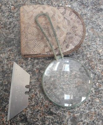 Antique brass surround Magnifying Glass