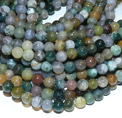 """GR237 Fancy Jasper Mixed Color 4mm Round Natural Gemstone Beads 16"""""""