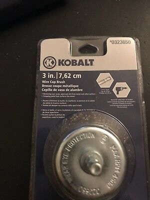 """(Lot of 3) Kobalt 2"""" FINE Wire Cup Brush #0323652"""