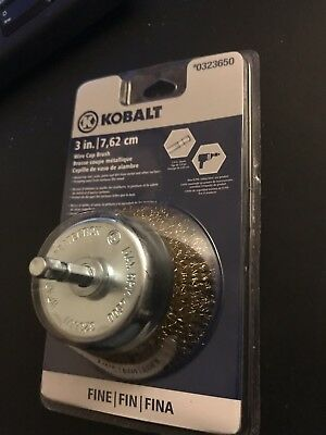 NEW! Kobalt 3-in  Wire Cup Brush Coarse Crimped with 1/4-Inch Hex Shank