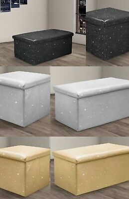 Marvelous Sparkle Bling Diamante Look Storage Box Small Or Large Black Bralicious Painted Fabric Chair Ideas Braliciousco