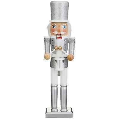 38cm Wooden Hand Painted Nutcracker Soldier Display Christmas Decoration- 326079