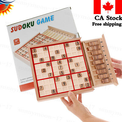 Wooden Sudoku Board Game Puzzle Game for Kids & Adults Bys Girls Educational Toy