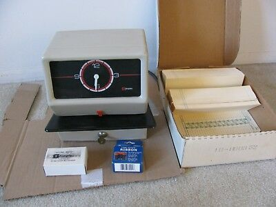 Simplex Time Card Clock Model 0002 Works With Cards