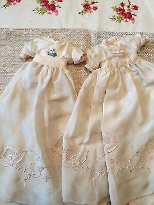 Two Small Handmade Vintage Night/christening Gowns