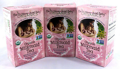 Earth Momma Angel Baby Organic Organic Milkmaid Tea 16 Bags (3 boxes in Lot)