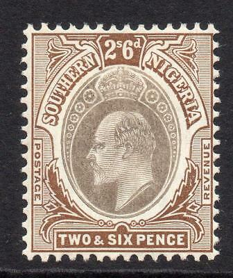 Southern Nigeria 2/6 Stamp c1904-09 Mounted Mint (gum crease up side of stamp)