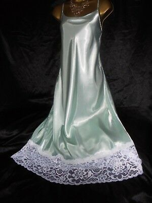 Stunning silky satin nightie dress slip negligee nightdress lilac 40 bust