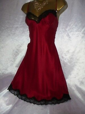 Stunning vtg silk reger nightie dress slip negligee nightdress mini slip