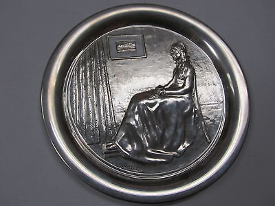 """Geo Washington Mint 1972 Whistler'S Mother Plate Sterling Silver # 3015 8"""" Xlnt"""