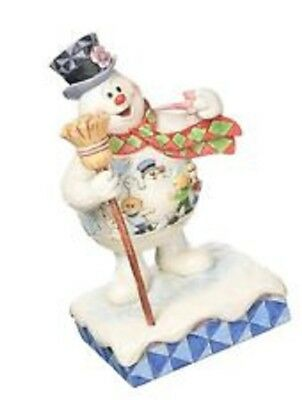 Jim Shore Frosty the Snowman with Scene on Belly Happy Birthday Figurine 4058187