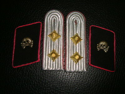 German Panzer Captain Collar tabs and boards