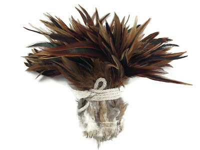 1 Yard - Natural Red Badger Strung Chinese Rooster Saddle Wholesale Feathers ...