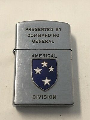 Americal Division Presented By Commanding General Konwal Lighter Needs Soldering