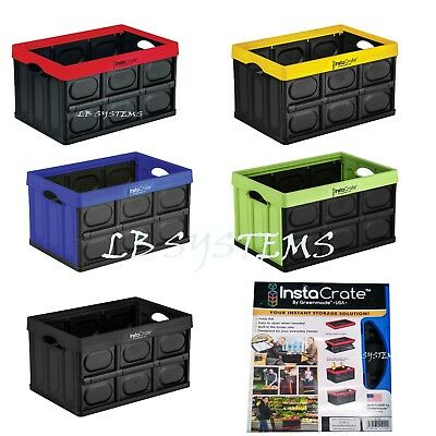 Collapsible Storage 46 Litre Box Insta Crate Folding Stackable  Container INSTA