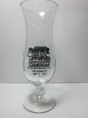 DICK'S LAST RESORT San Diego DICK'S SICKLIES Logo Pedestal Hurricane Glass