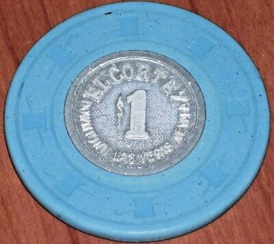 $1 8Th Edition Gaming Chip From The El Cortez Casino, Las Vegas