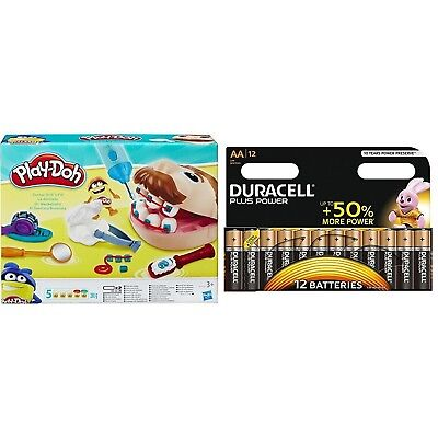 Play-Doh Doctor Drill-n-Fill Set with Duracell Plus Power Type AA Alkaline Ba...