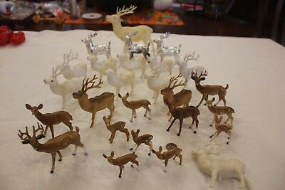20 Vintage Reindeer Deer Japan Hong Kong Christmas Ornaments 6 China