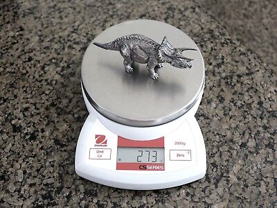 Triceratops Limited Edition Solid Silver 8oz Hand Poured Figurine