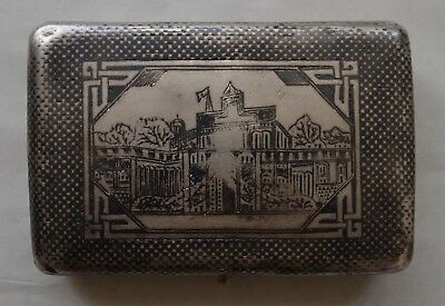 Silver nielloed Cigarette Case Armenian VAN Western Armenia now Turkey XIX c.