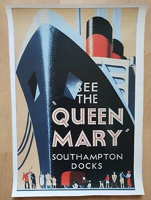 Poster See the Queen Mary - Southampton Docks